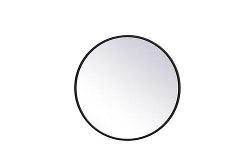 "Elegant Eternity 21"" Round Wall Mirror"
