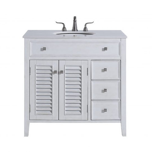"Elegant Cape Cod 36"" Vanity with Drawers"