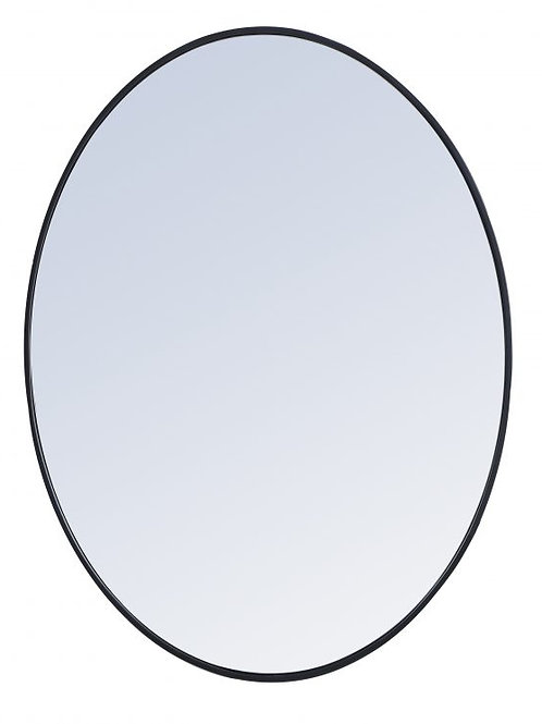 "Elegant Decker 30"" Oval Wall Mirror"