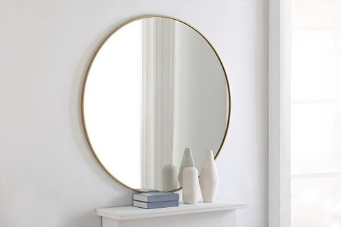 "Elegant Eternity 48"" Round Wall Mirror"