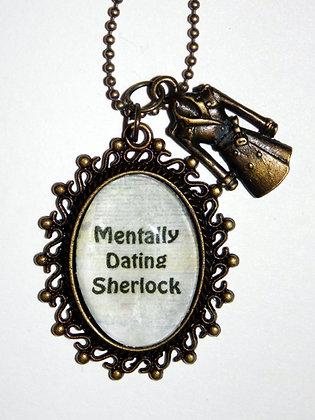 Mentally Dating Sherlock Charm Necklace