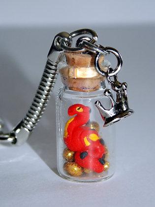 Dragon in a Bottle Key Chain
