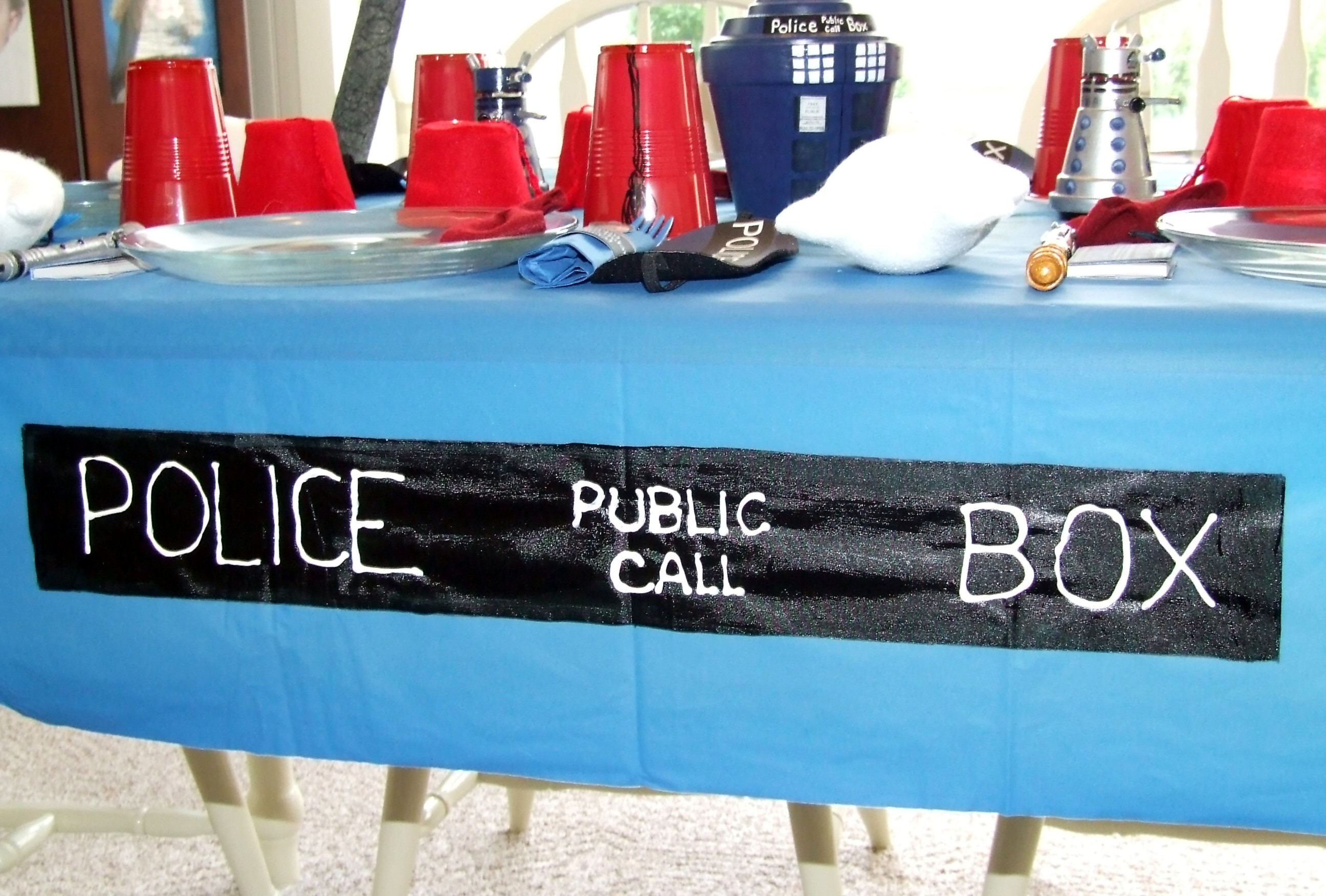 Doctor Who Tablecloth