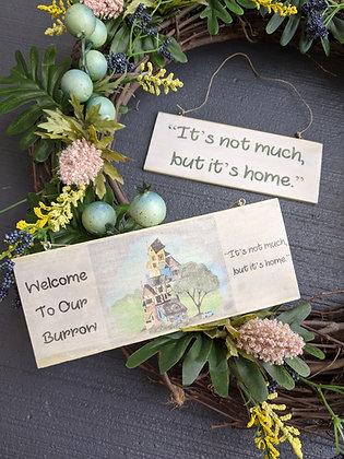 Burrow Door Sign