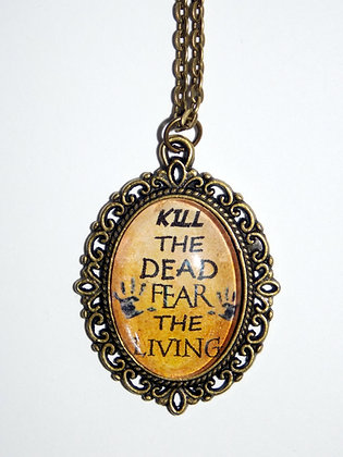 Fear the Living Charm Necklace