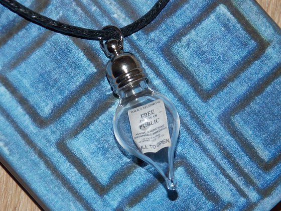 Fandom Sign in a Bottle (Police Box) Necklace