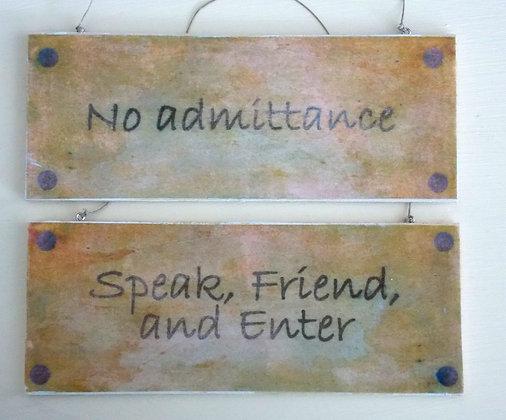 No Admittance (Rustic) Door Sign