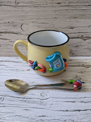 Jelly Beans Mug and Spoon Set
