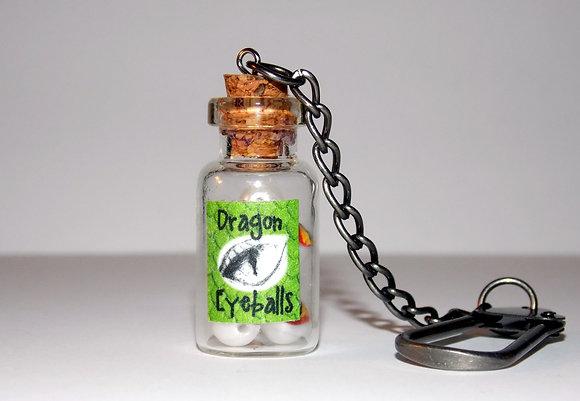 Bottled Dragon Eyeballs Key Chain