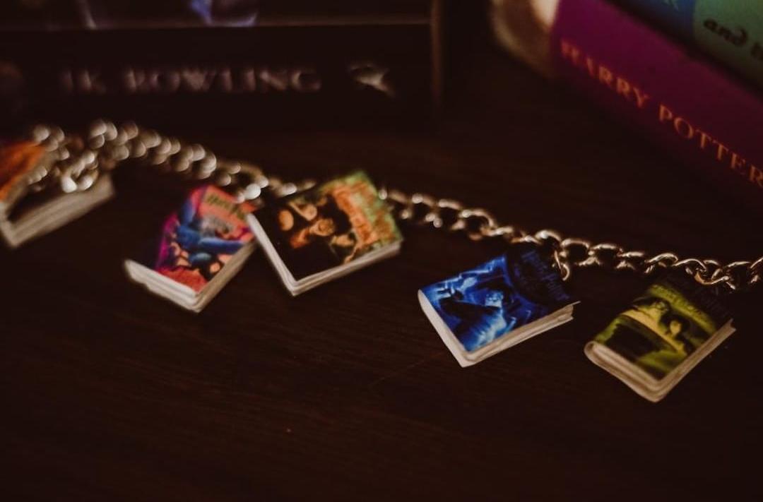 Book Charm Bracelet