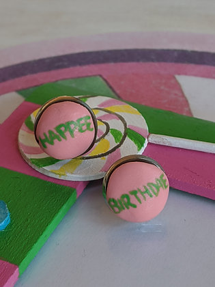 Happee Birthdae Cake Earrings