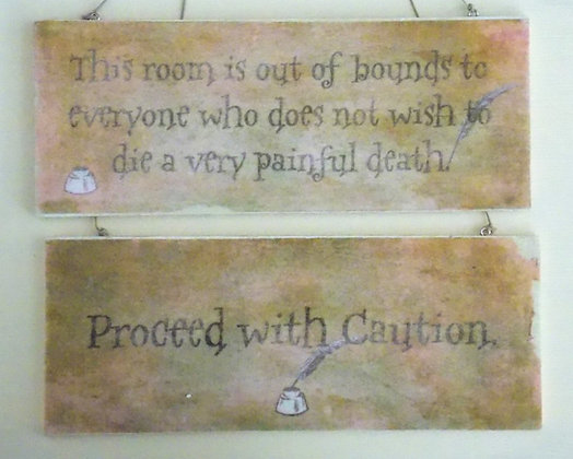 Proceed with Caution (Rustic) Door Sign