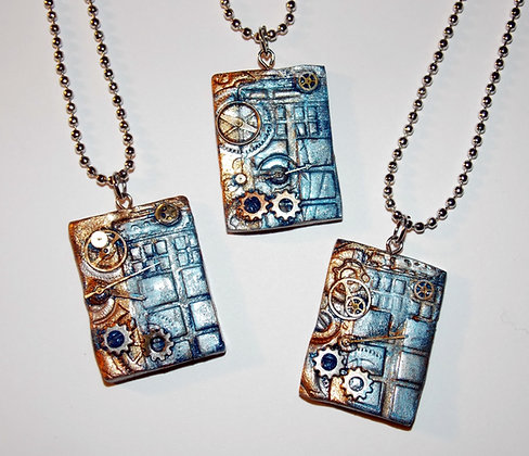 Steampunk Box Pendant