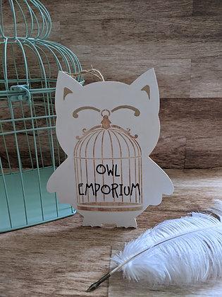 Owl Emporium Sign