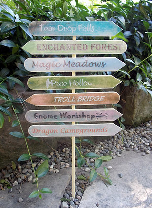 Enchanted Forest Sign Post