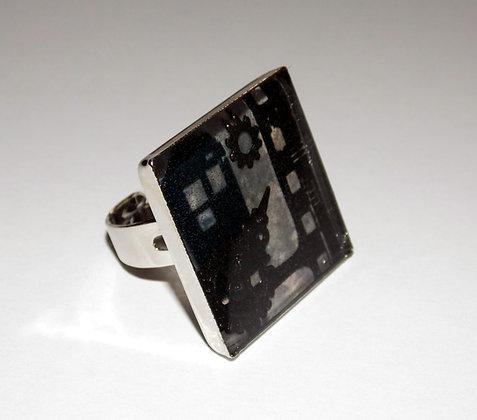Steampunk Negative Frame Ring