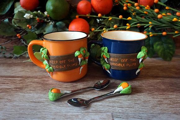 Plums Mug and Spoon