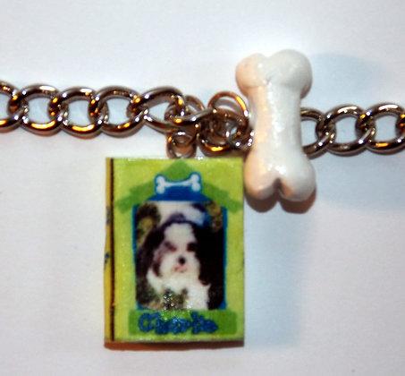Pet Lover's Memory Album Charm Bracelet