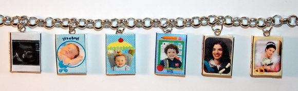 Treasured Memory Album Bracelet Charms