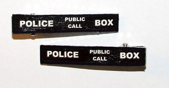 Police Box Hair Clips