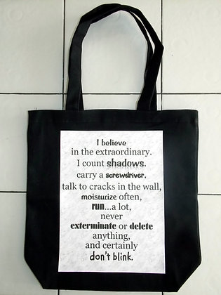 I Believe In The Extraordinary Large Totebag