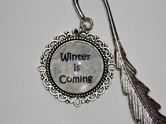 Silver Winter Is Coming Bookmark
