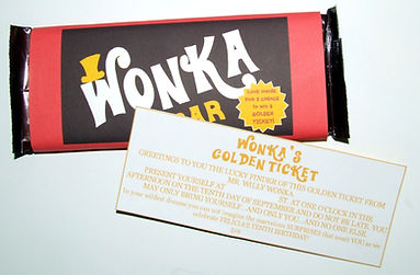 image about Printable Wonka Bar Wrapper named wonka celebration