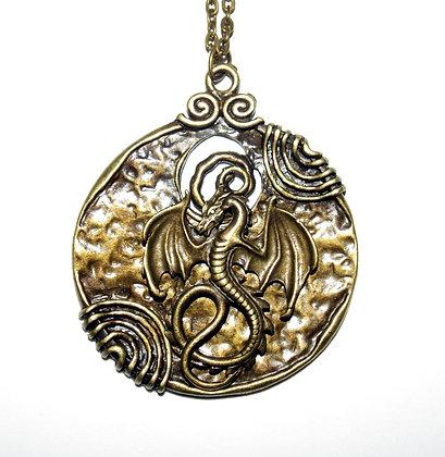 Large Dragon Medallion Necklace