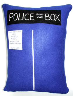 Tardis Pillow