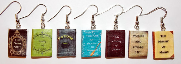 Student Wizard's Textbooks Earrings.