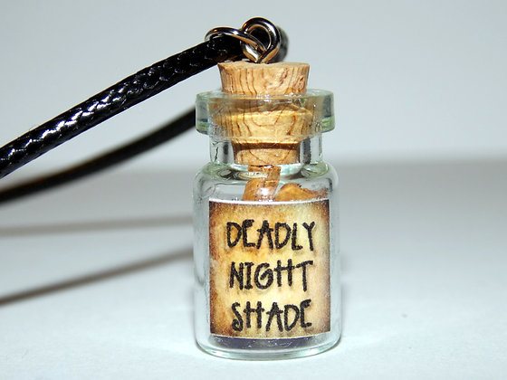 Bottled Deadly Night Shade Necklace