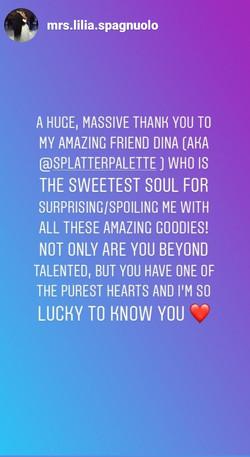 Thank you Lilia!