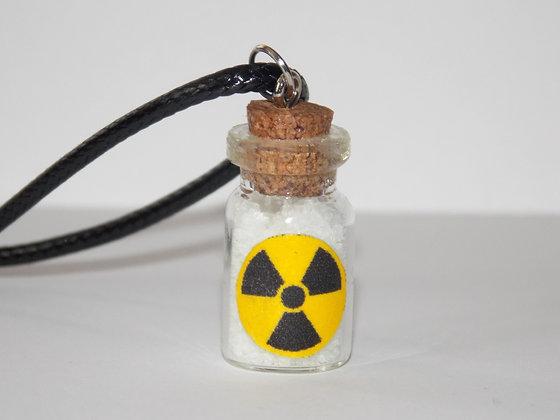 Radioactive Waste Bottle Necklace (Glow)