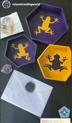 Chocolate Frog Trinket Trays Set