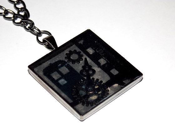 Steampunk Negative Frame Pendant