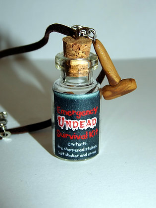 Emergency Undead Survival Kit Necklace
