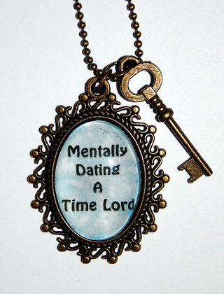 Mentally Dating a Time Lord Charm Necklace