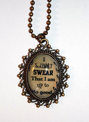 I Solemnly Swear Metal Necklace