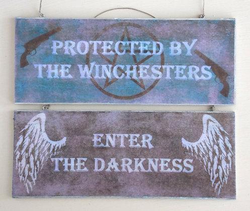Enter The Darkness (Rustic) Door Sign