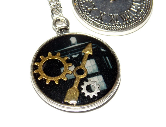 Time and Space Gear Pendant (Silver)