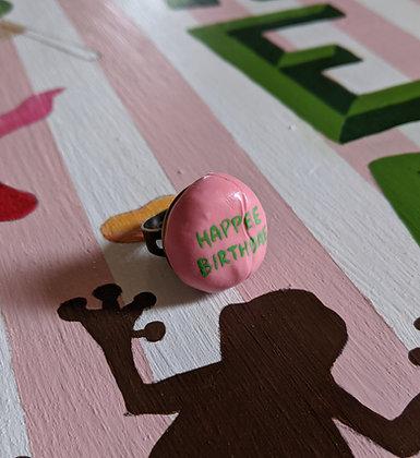 Happee Birthdae Cake Ring