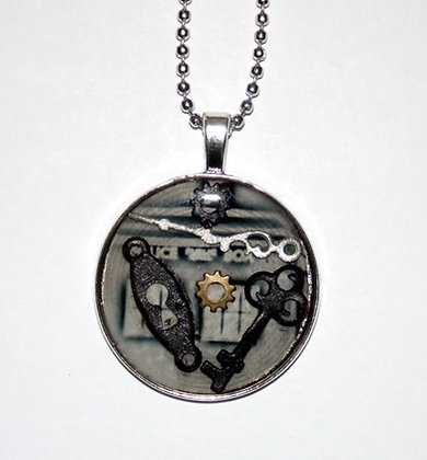 Antique Time and Space Gear Pendant