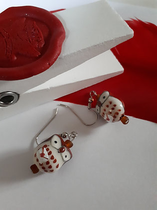 Ceramic Owl Delivery Earrings