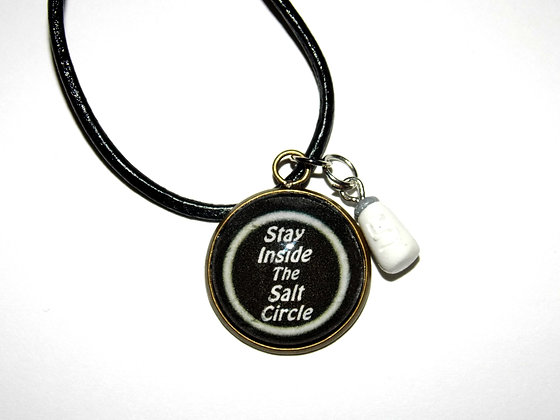 Stay Inside The Salt Circle Necklace