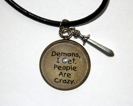People Are Crazy Charm Necklace