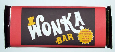 graphic relating to Printable Wonka Bar Wrapper named wonka bash