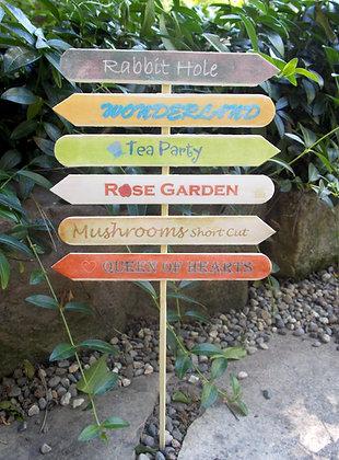 Wonderland Sign Post