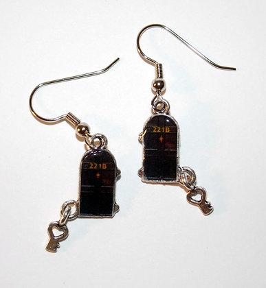 Holmes Sweet Home Metal Earrings