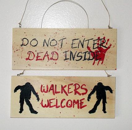 Dead Inside Door Sign