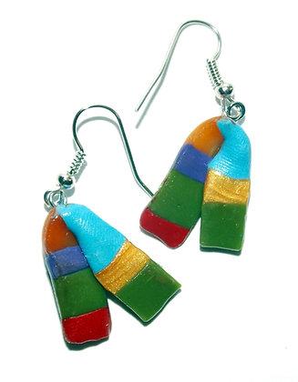 Striped Scarf Earrings
